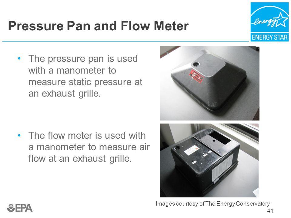 Pressure Pan and Flow Meter