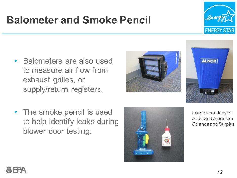 Balometer and Smoke Pencil