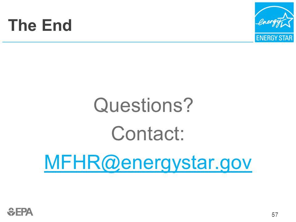 Questions Contact: MFHR@energystar.gov