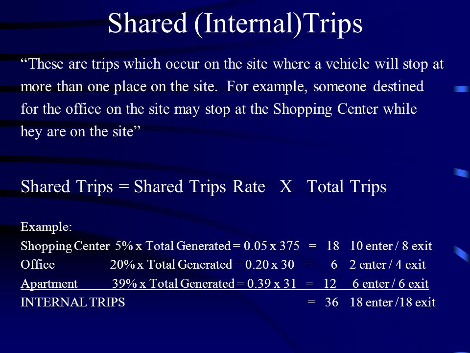 Shared (Internal)Trips