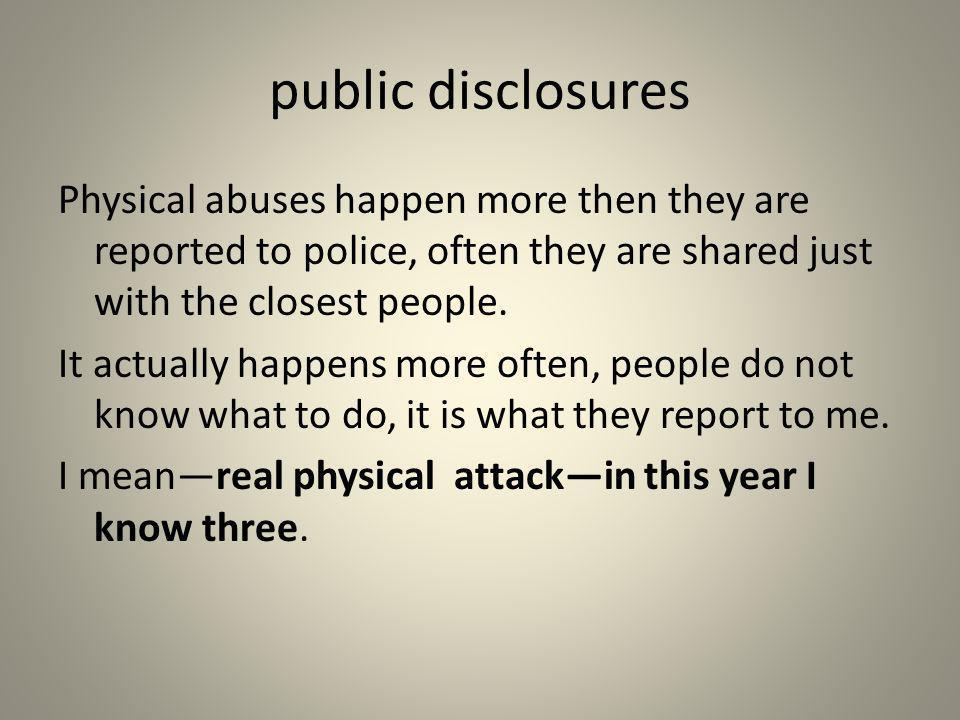public disclosures