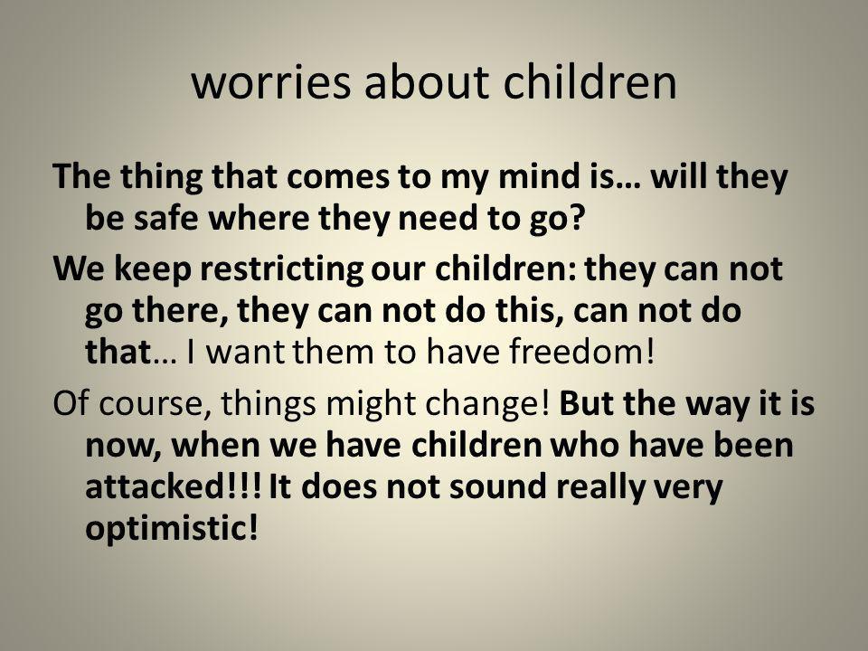 worries about children