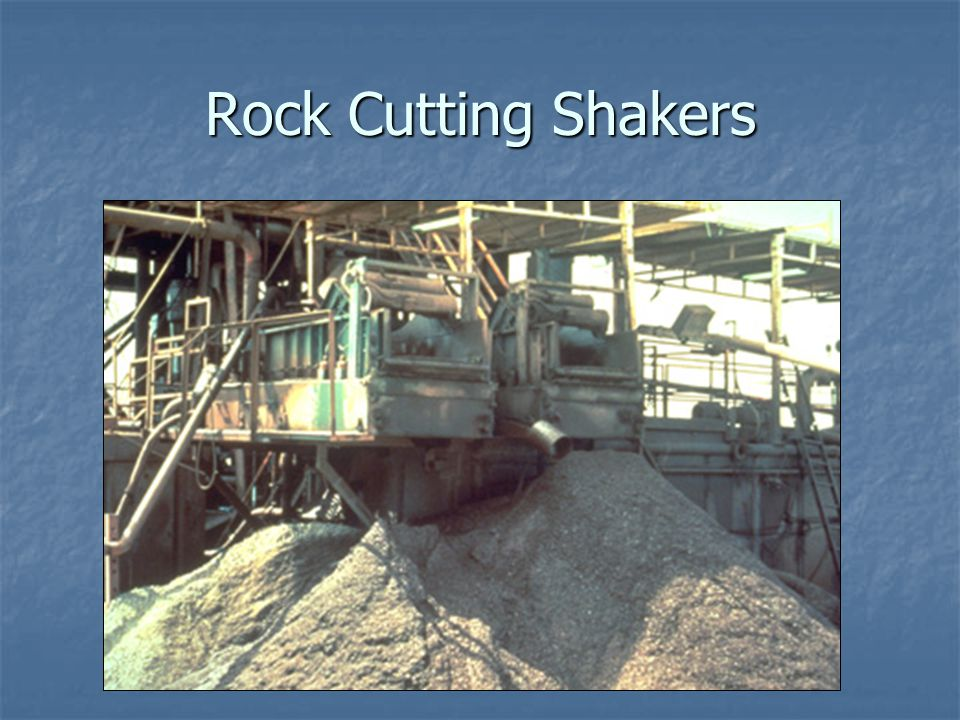 Rock Cutting Shakers