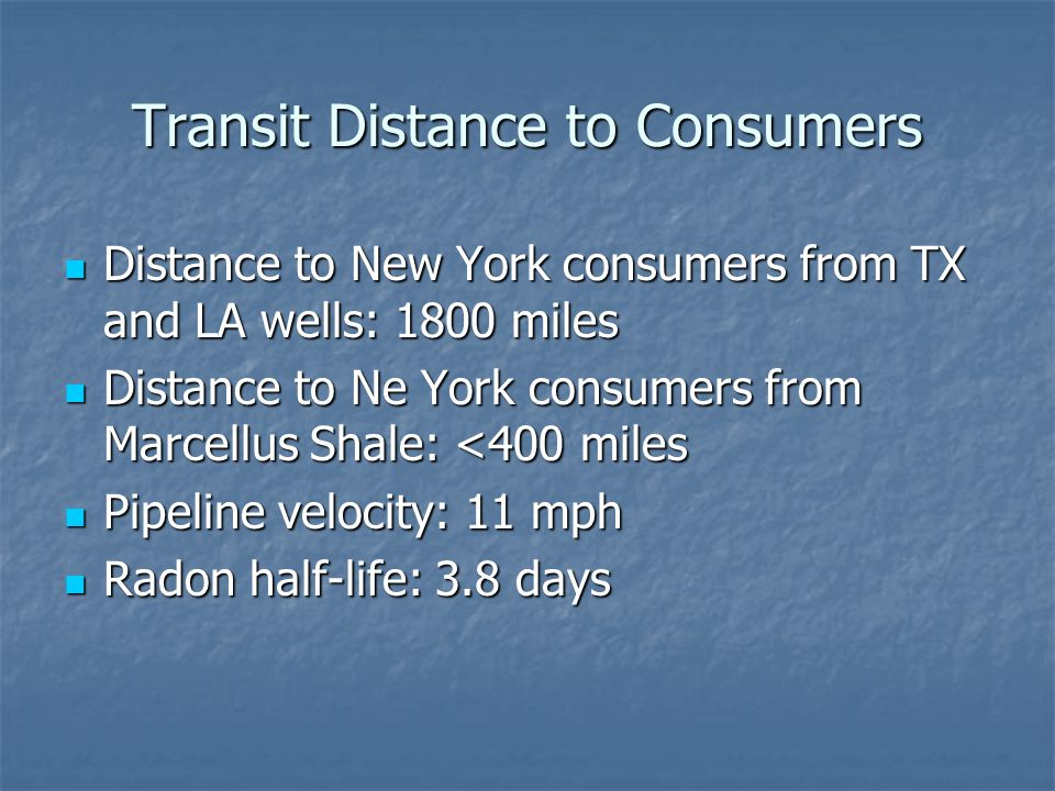 Transit Distance to Consumers