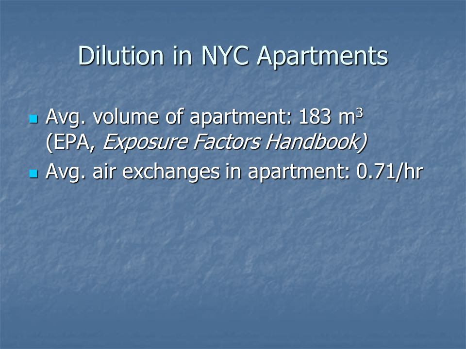 Dilution in NYC Apartments