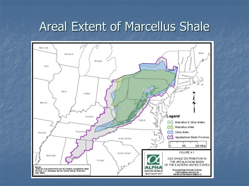 Areal Extent of Marcellus Shale