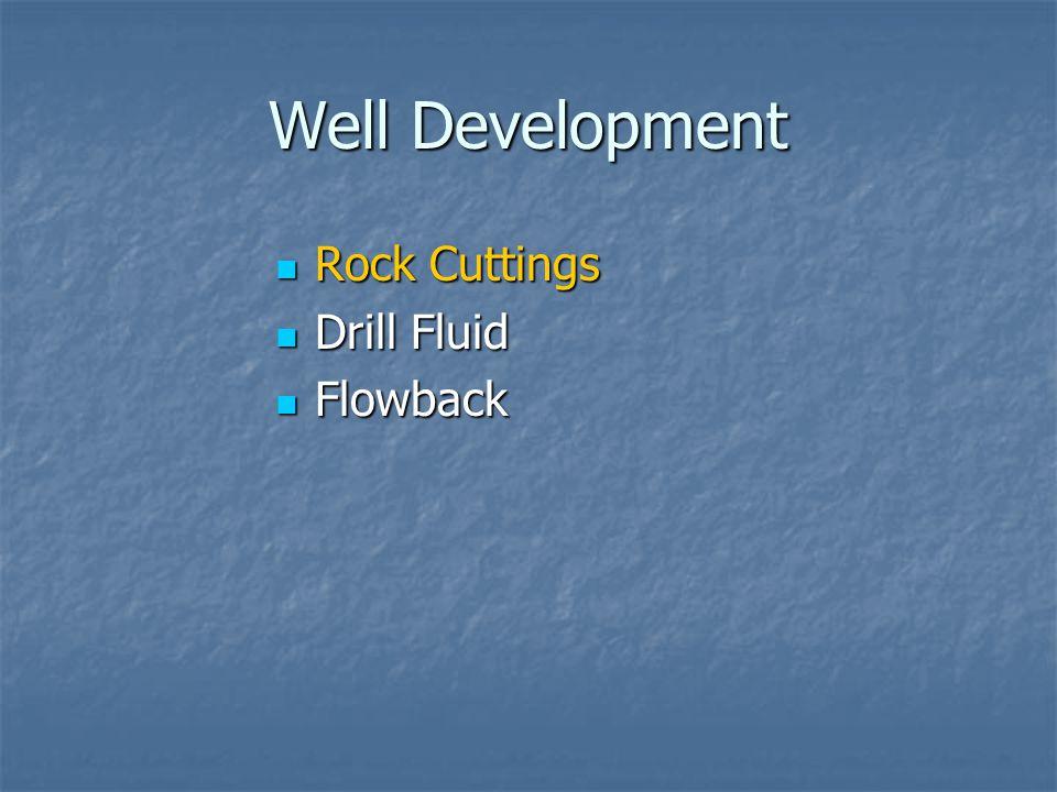 Well Development Rock Cuttings Drill Fluid Flowback