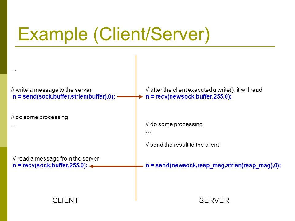 Example (Client/Server)