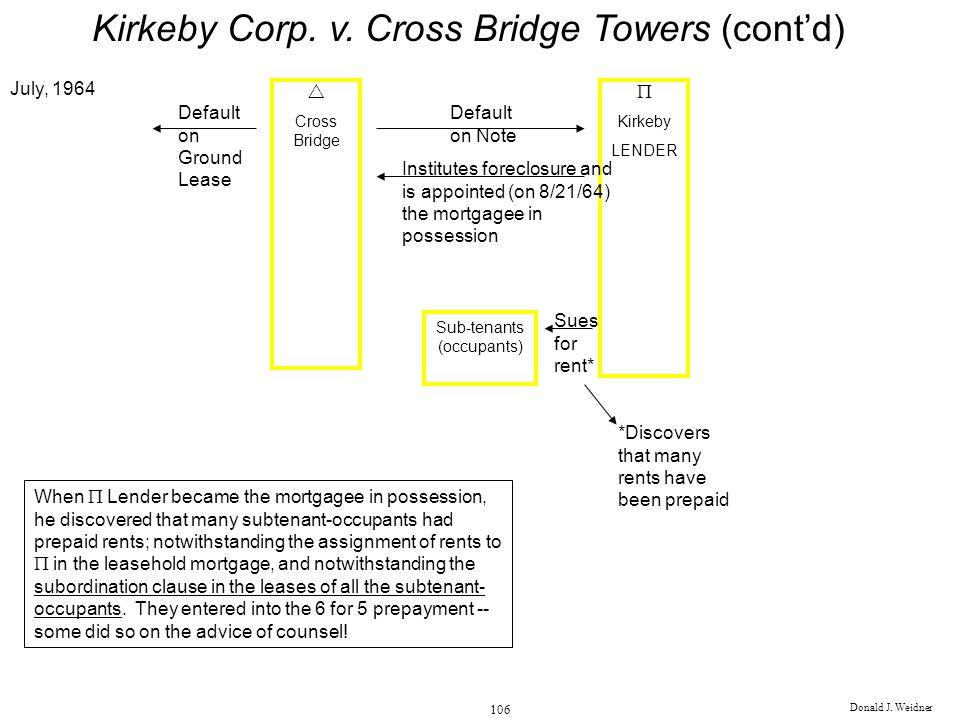 Kirkeby Corp. v. Cross Bridge Towers (cont'd)