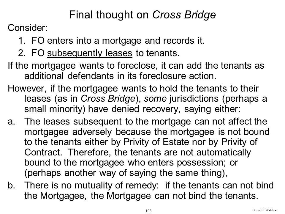 Final thought on Cross Bridge