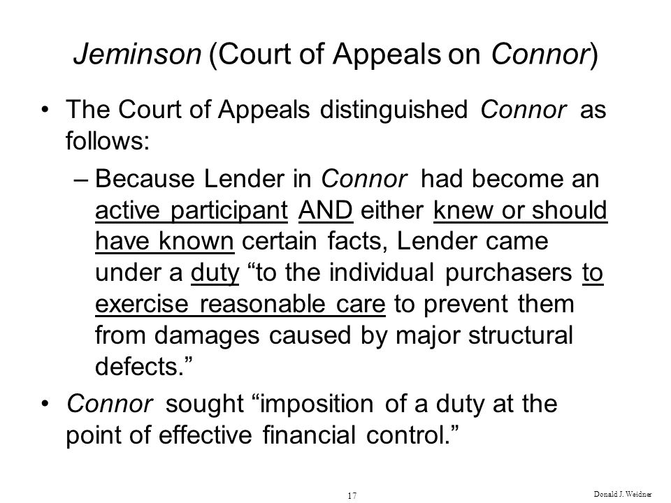 Jeminson (Court of Appeals on Connor)