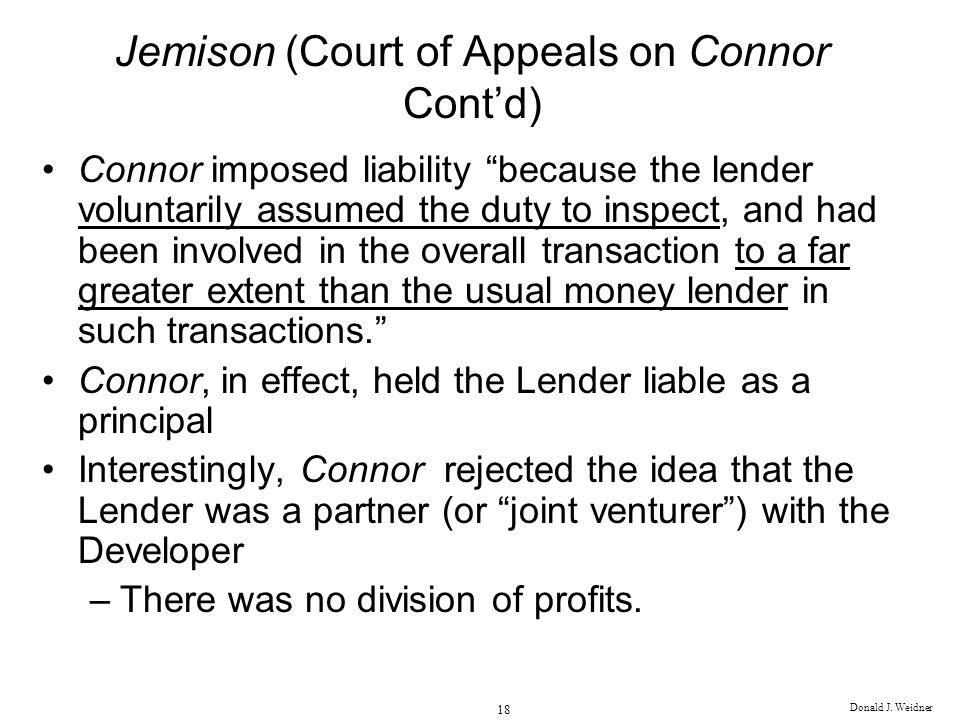 Jemison (Court of Appeals on Connor Cont'd)
