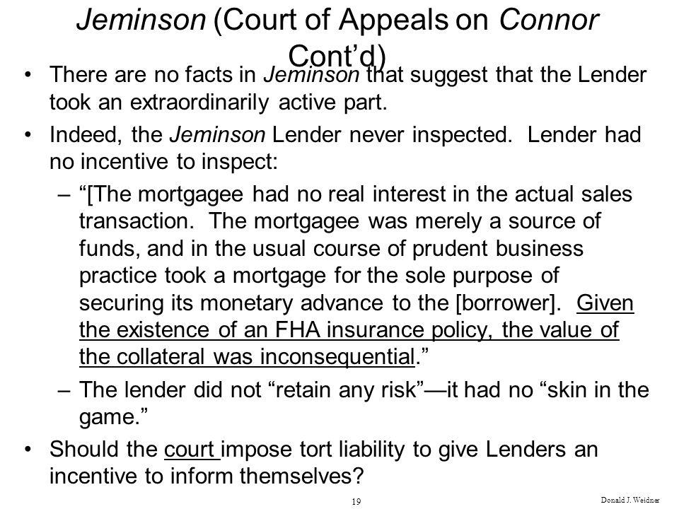 Jeminson (Court of Appeals on Connor Cont'd)