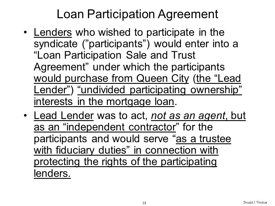 Loan Participation Agreement