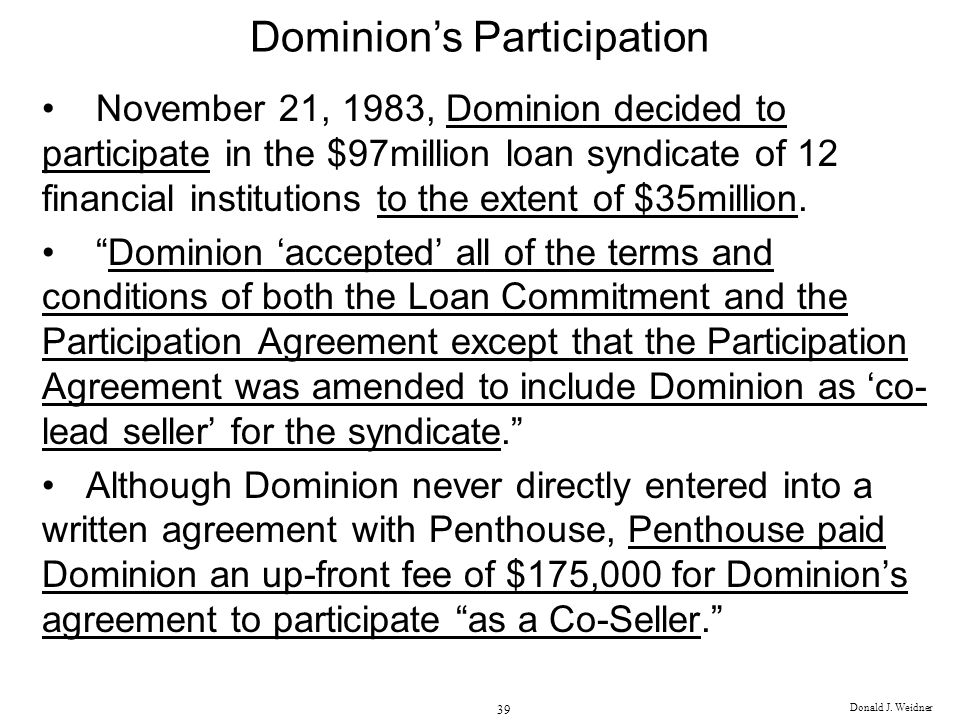 Dominion's Participation