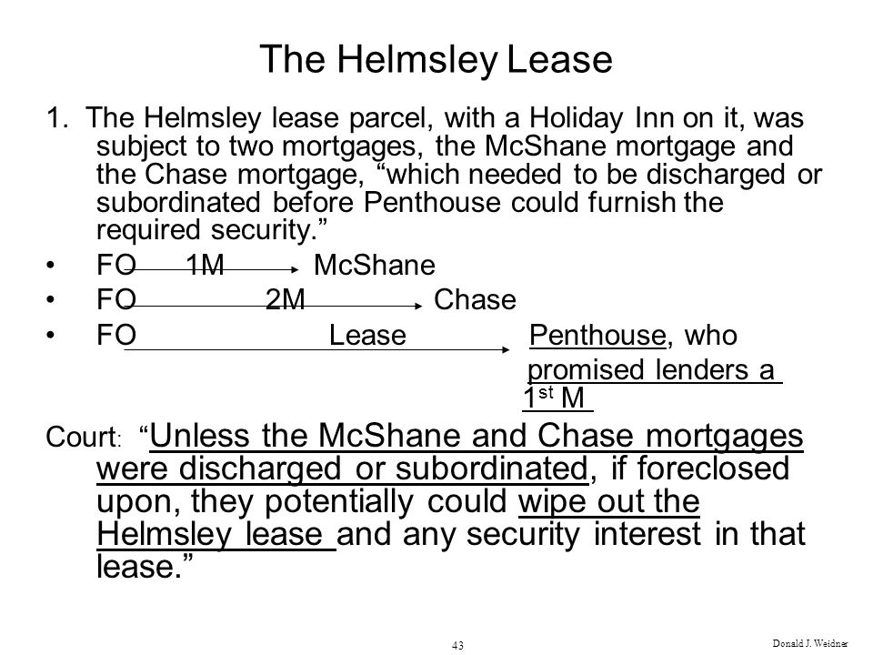The Helmsley Lease