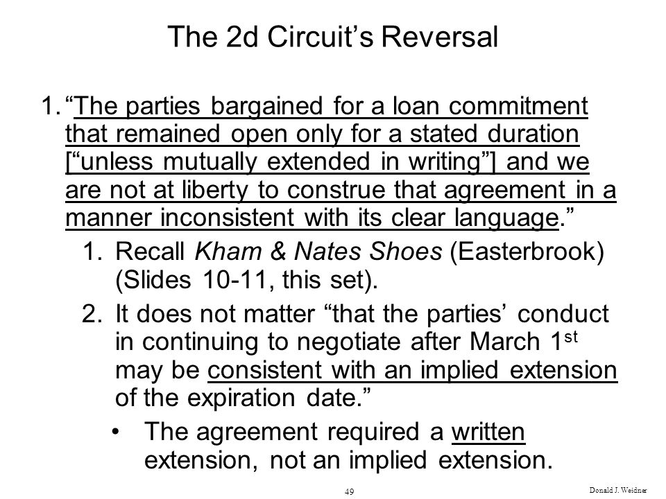 The 2d Circuit's Reversal