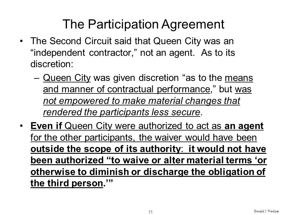 The Participation Agreement