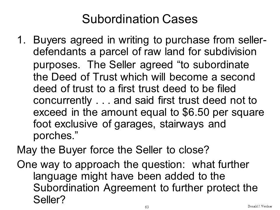Subordination Cases