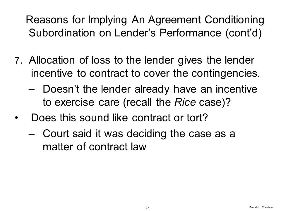 Does this sound like contract or tort