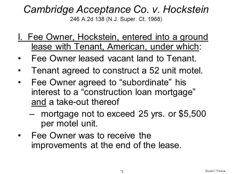 Cambridge Acceptance Co. v. Hockstein 246 A. 2d 138 (N. J. Super. Ct