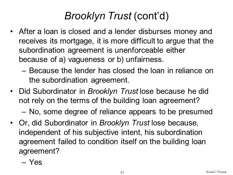 Brooklyn Trust (cont'd)