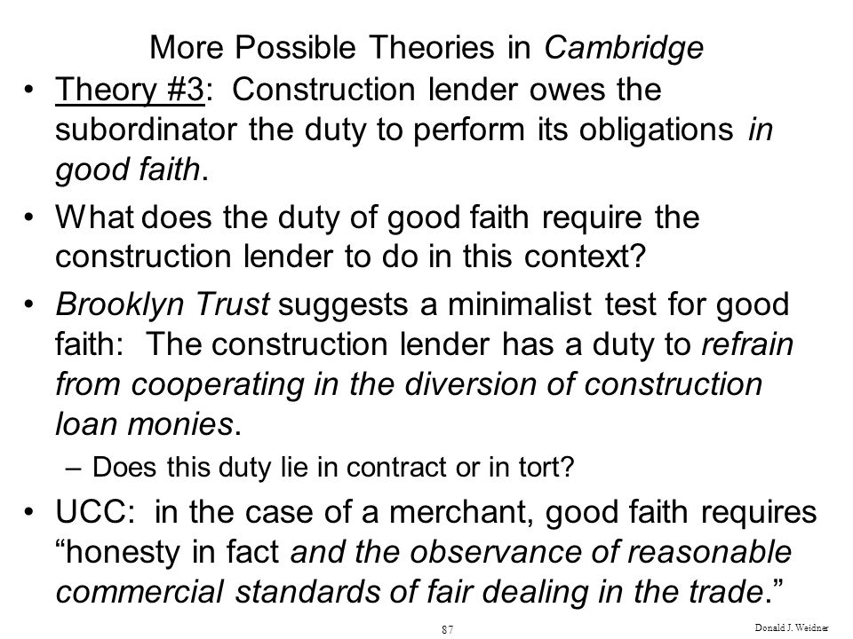 More Possible Theories in Cambridge