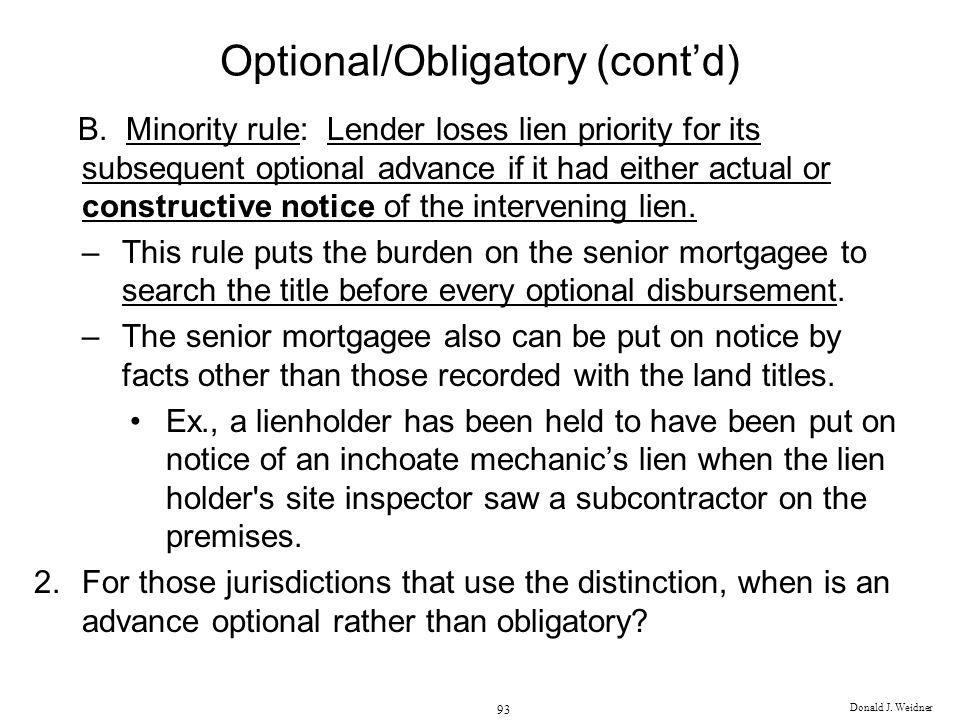 Optional/Obligatory (cont'd)