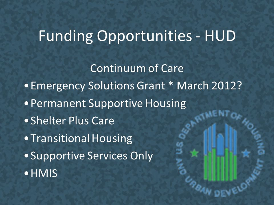 Funding Opportunities - HUD