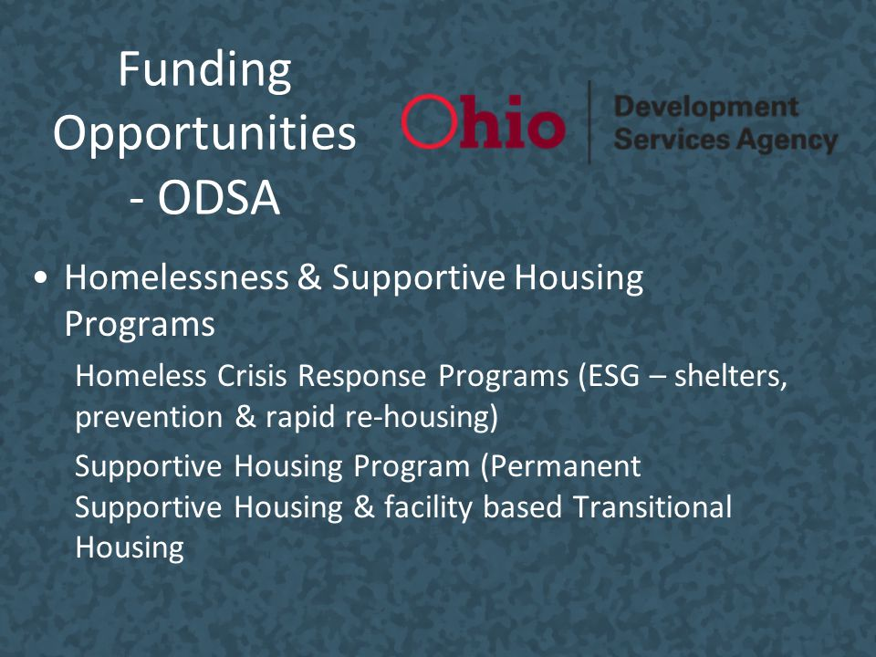 Funding Opportunities - ODSA