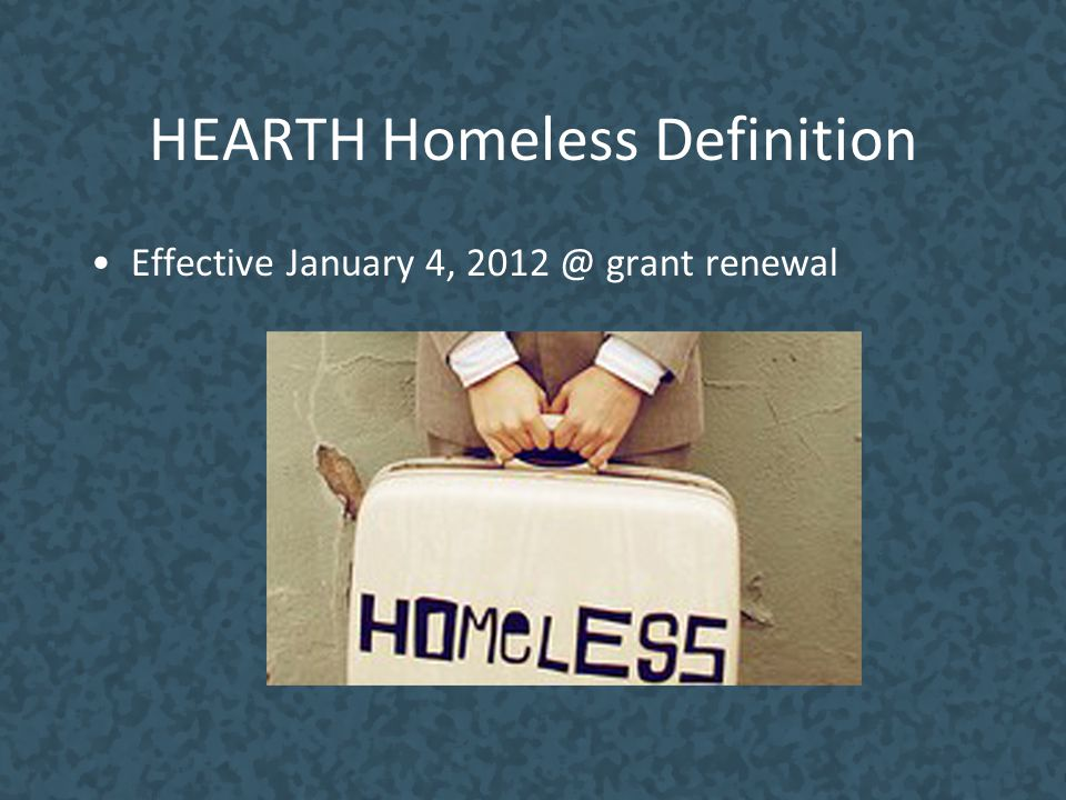 HEARTH Homeless Definition