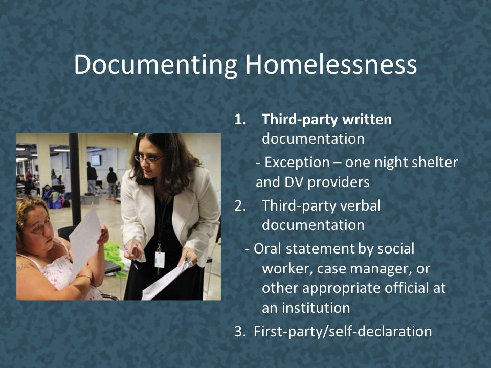 Documenting Homelessness