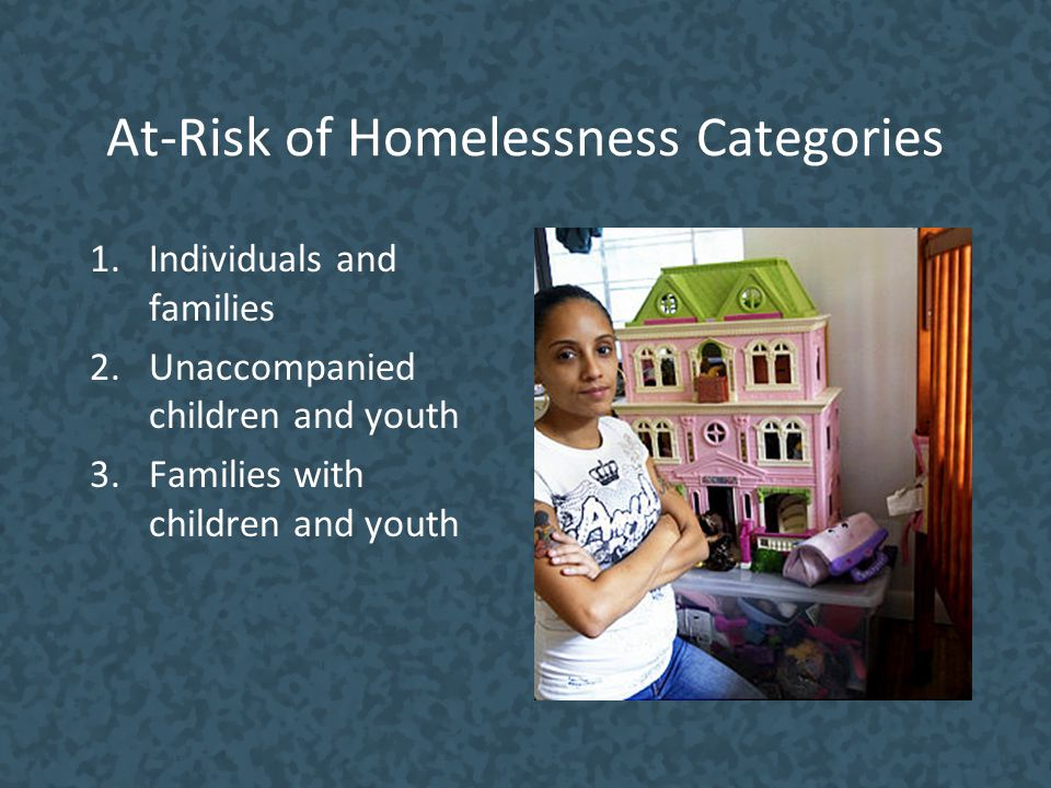 At-Risk of Homelessness Categories