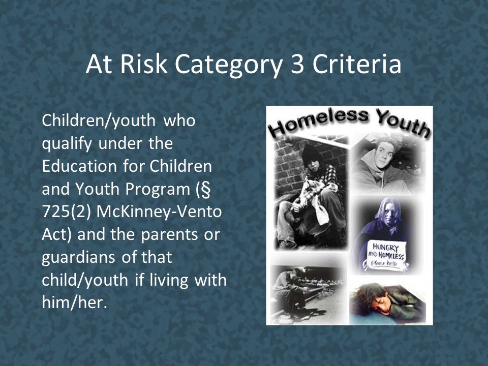 At Risk Category 3 Criteria