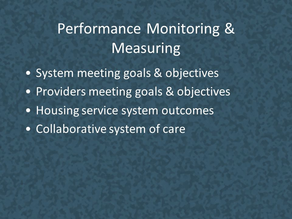Performance Monitoring & Measuring