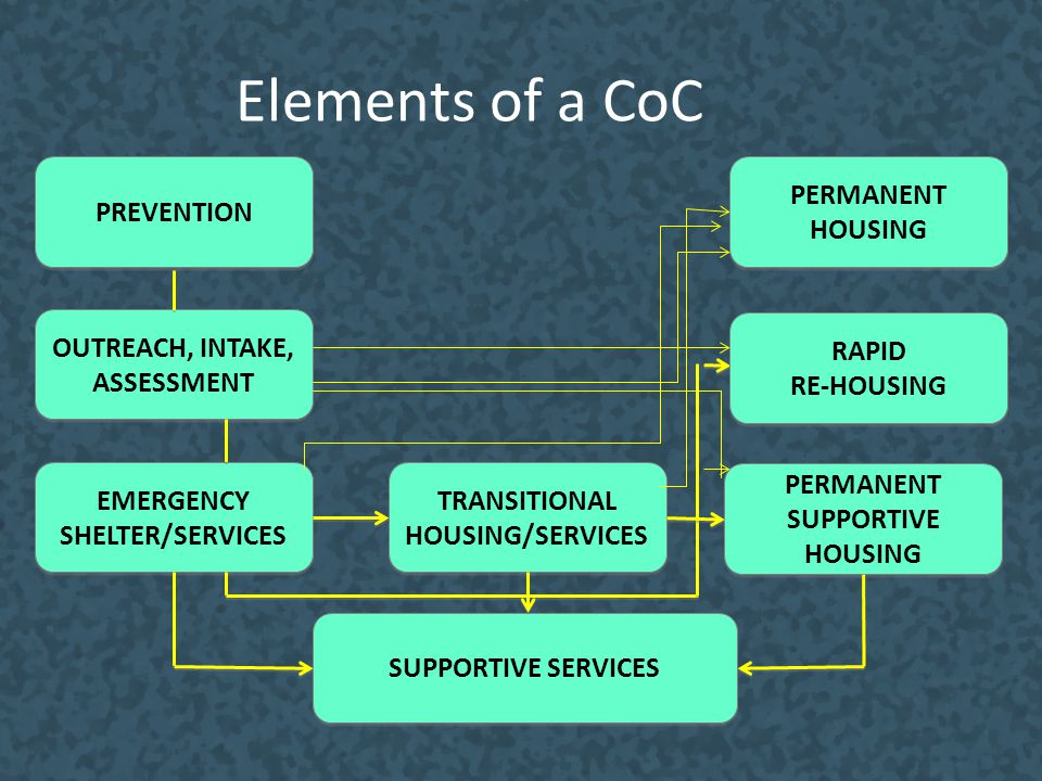 Elements of a CoC PREVENTION PERMANENT HOUSING