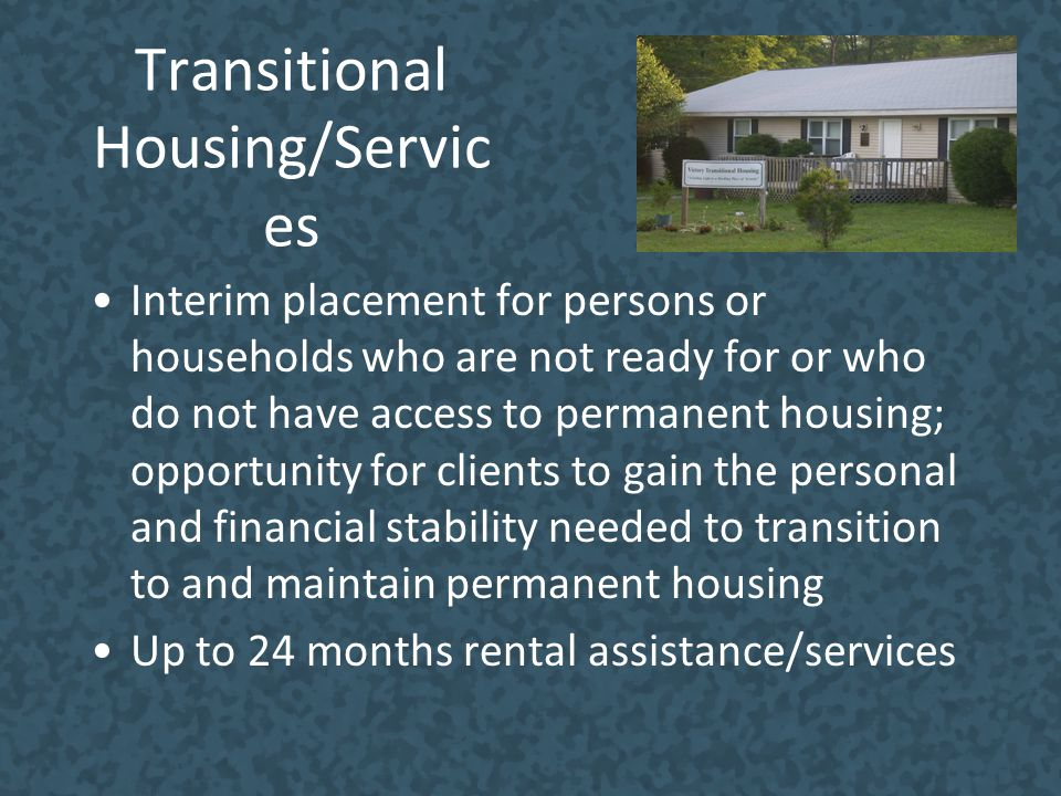 Transitional Housing/Services