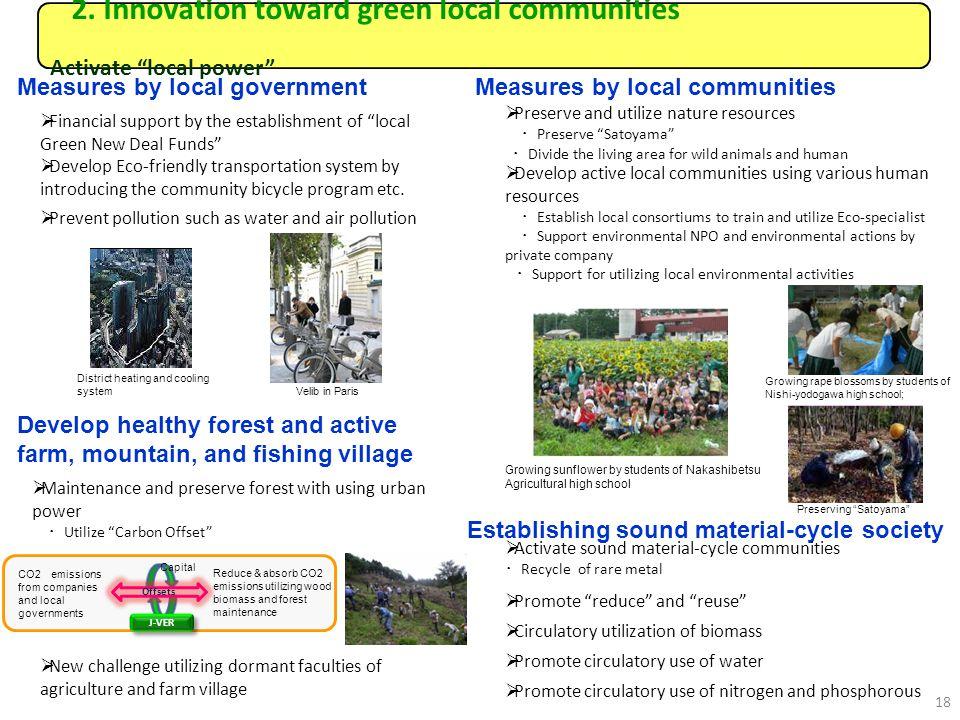 2. Innovation toward green local communities