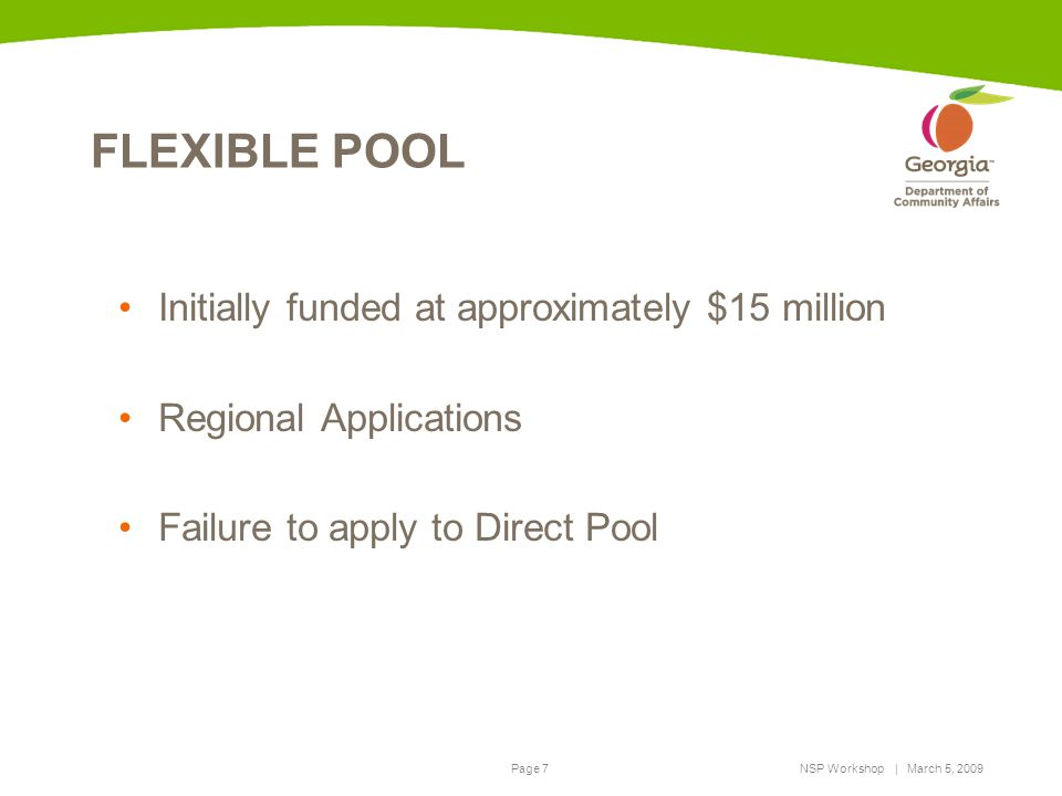 FLEXIBLE POOL Initially funded at approximately $15 million
