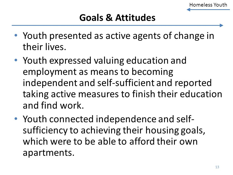 Youth presented as active agents of change in their lives.