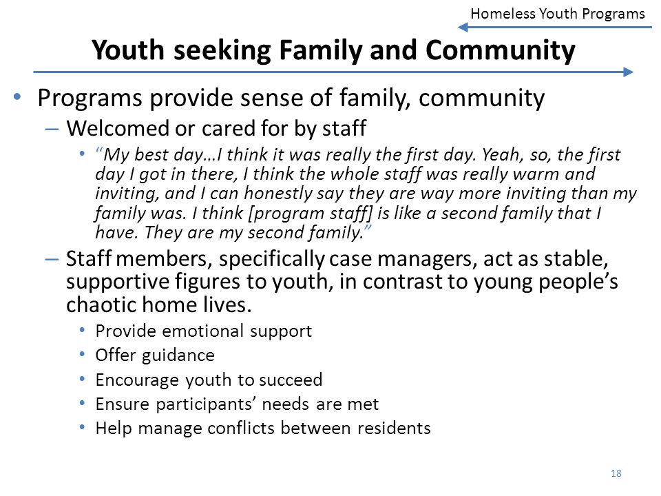 Youth seeking Family and Community