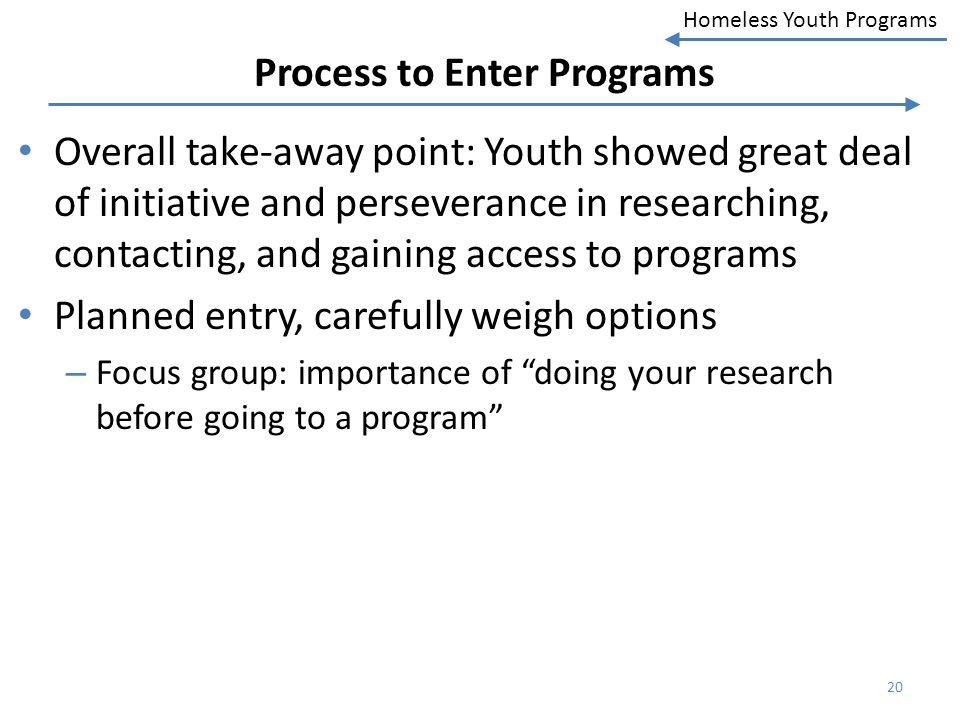 Process to Enter Programs