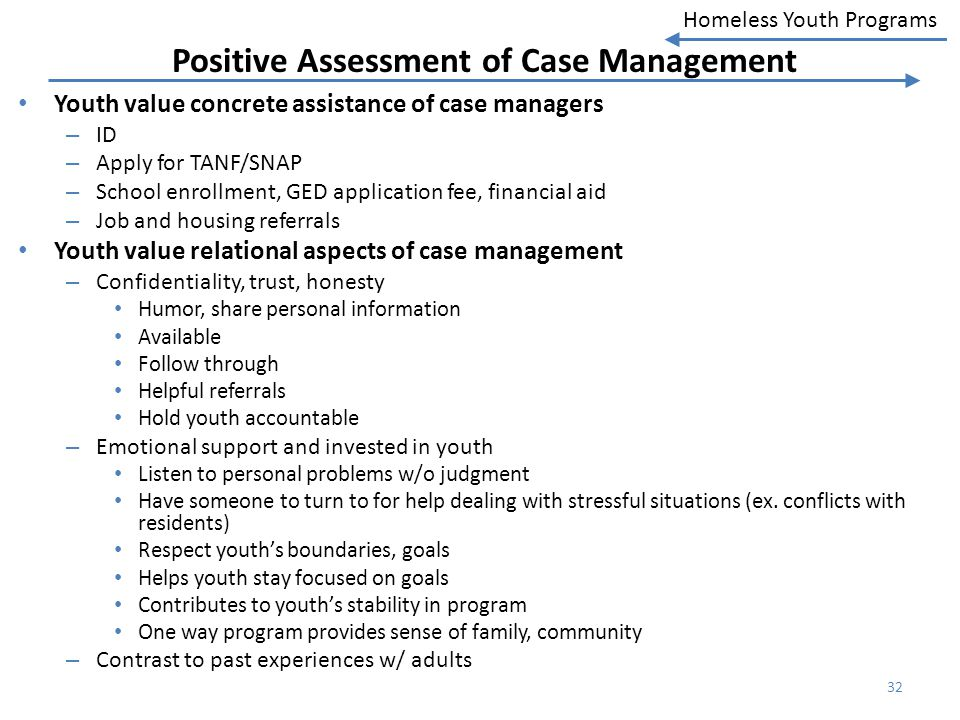Positive Assessment of Case Management