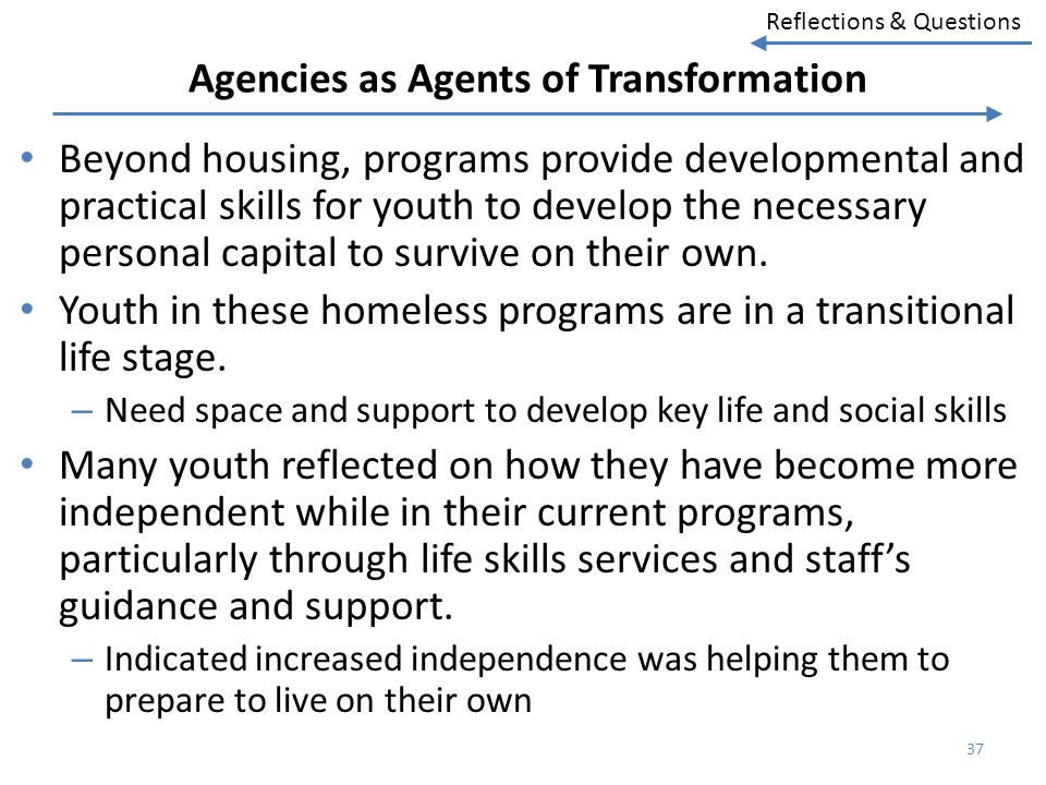 Agencies as Agents of Transformation