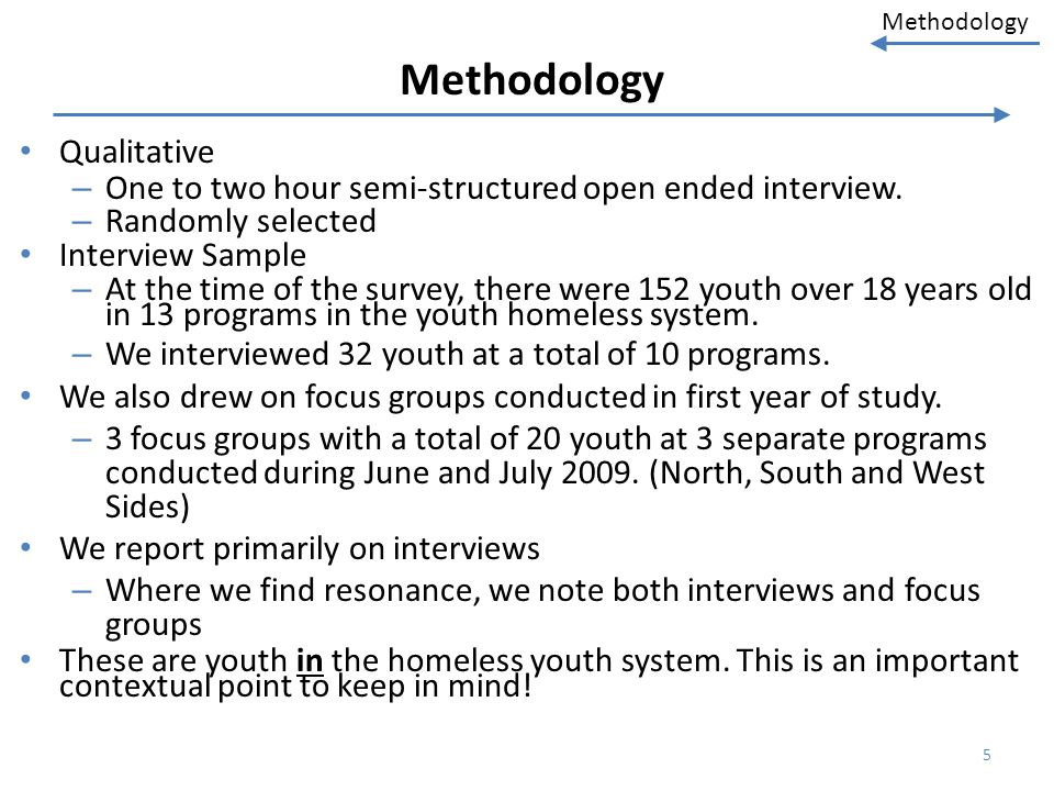 Methodology Qualitative