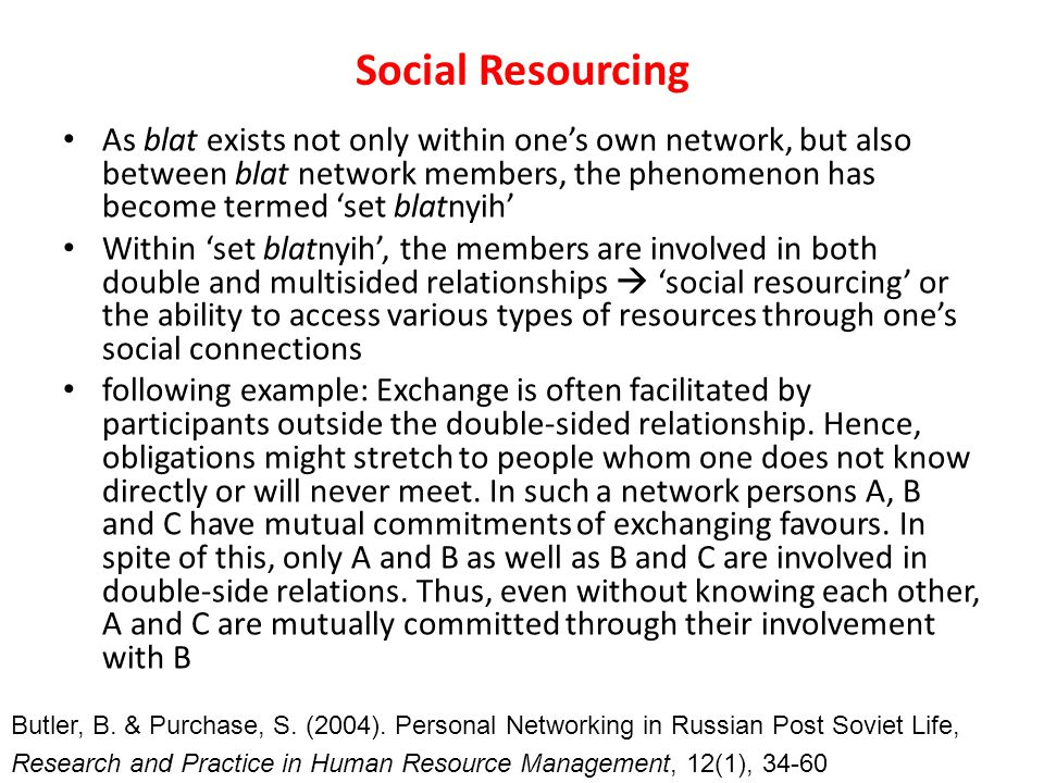 Social Resourcing