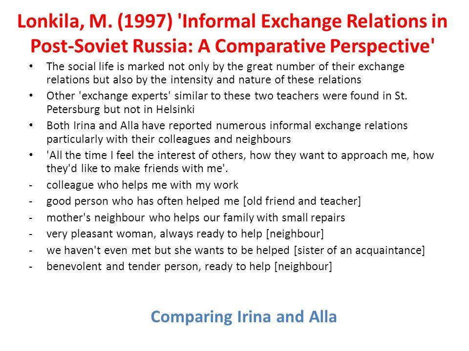 Comparing Irina and Alla