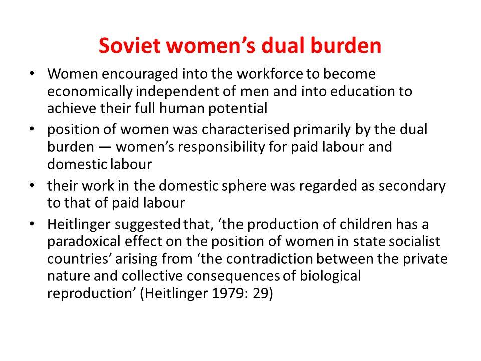 Soviet women's dual burden