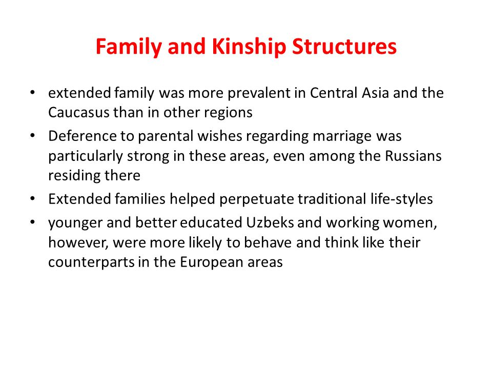 Family and Kinship Structures