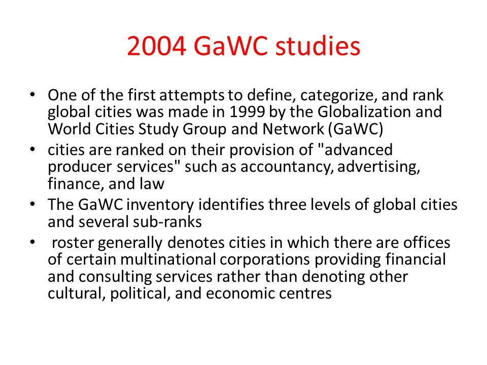 2004 GaWC studies